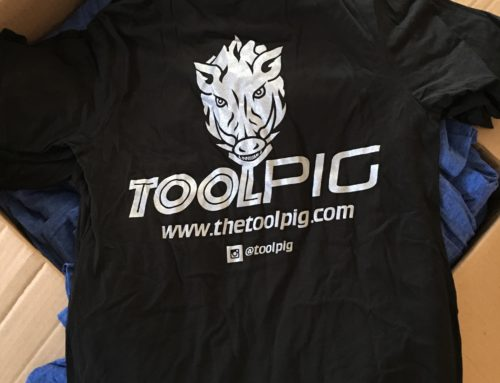 Team toolpig T-shirts are now available!