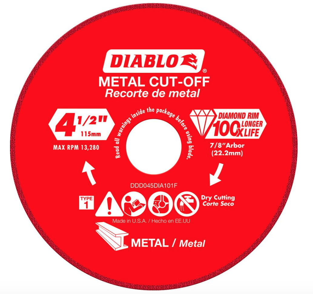 Diablo 4.5 in. Diamond Wheel for Metal Cutting – #THDProSpective