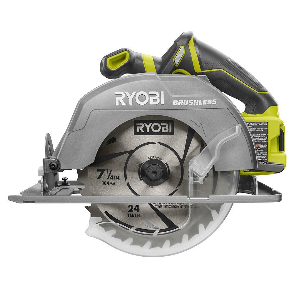 Ryobi 18V One+ Cordless 7-1/4 in. Brushless Circular Saw – THD ProSpective