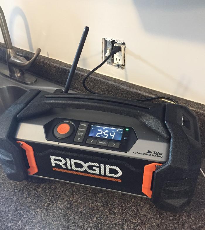 Ridgid 18V Charging Radio-#THD Prospective